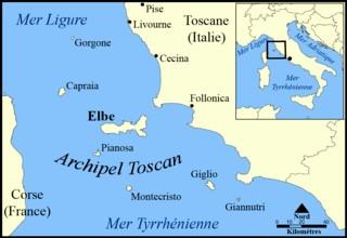 carte archipel toscan