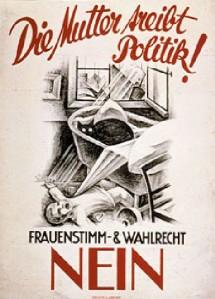 la-mere-fait-de-la-politique-non-au-droit-de-vote-des-femmes-affiche-de-bale-1927