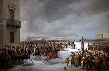 au_service_des_tsars_-_inv-_%d1%8dp%d0%b6-2379_-_attaque_du_carre_des_decabristes_par_le_regiment_des_gardes_a_cheval_le_14_decembre_1825