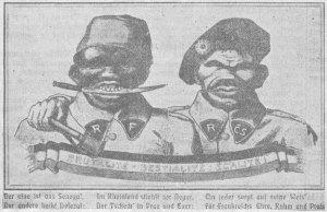 carte_postale_raciste_antifrancaise_et_anti-tcheque_allemande_1923