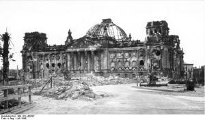 Berlin, zerstörter Reichstag