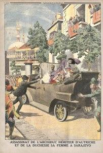 800px-L'assassinat_de_l'Archiduc_héritier_d'Autriche_et_de_la_Duchesse_sa_femme_à_Sarajevo_supplément_illustré_du_Petit_Journal_du_12_juillet_1914